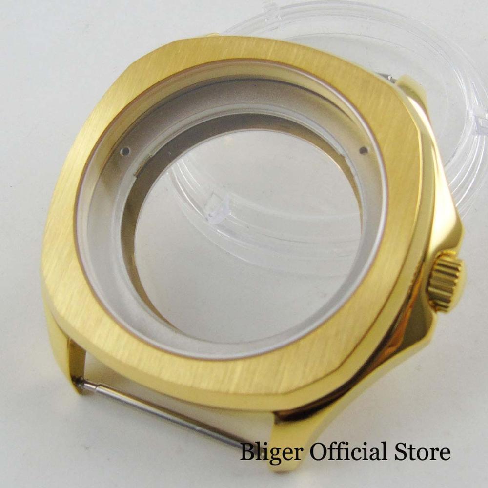 Sapphire Glass 39mm Diameter New Luxury Gold Watch Case Fit for ETA 2836 Automatic MovementSapphire Glass 39mm Diameter New Luxury Gold Watch Case Fit for ETA 2836 Automatic Movement