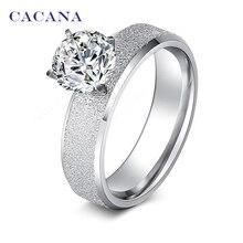 Cacana нет. диаманта блесток cz изделий ювелирных кольца нержавеющей стали женщин