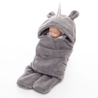 Newborn Double layered Lambskin Blankets Plain Winter Warm Baby Bag Towel Unicorn Baby Blanket Toddler Blanket