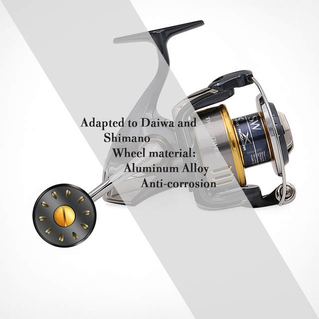 SANLIKE New fishing accessories SHIMANO A reel Handle and DAIWA S Spinning  Fishing reel Handle knob Aluminum Fishing Tackle