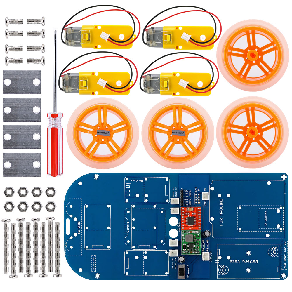 Image 3 - 4WD Wireless JoyStick Remote Control Rubber Wheel Gear Motor Smart Car Kit with Tutorial for Arduino UNO R3 Nano Mega2560-in Industrial Computer & Accessories from Computer & Office