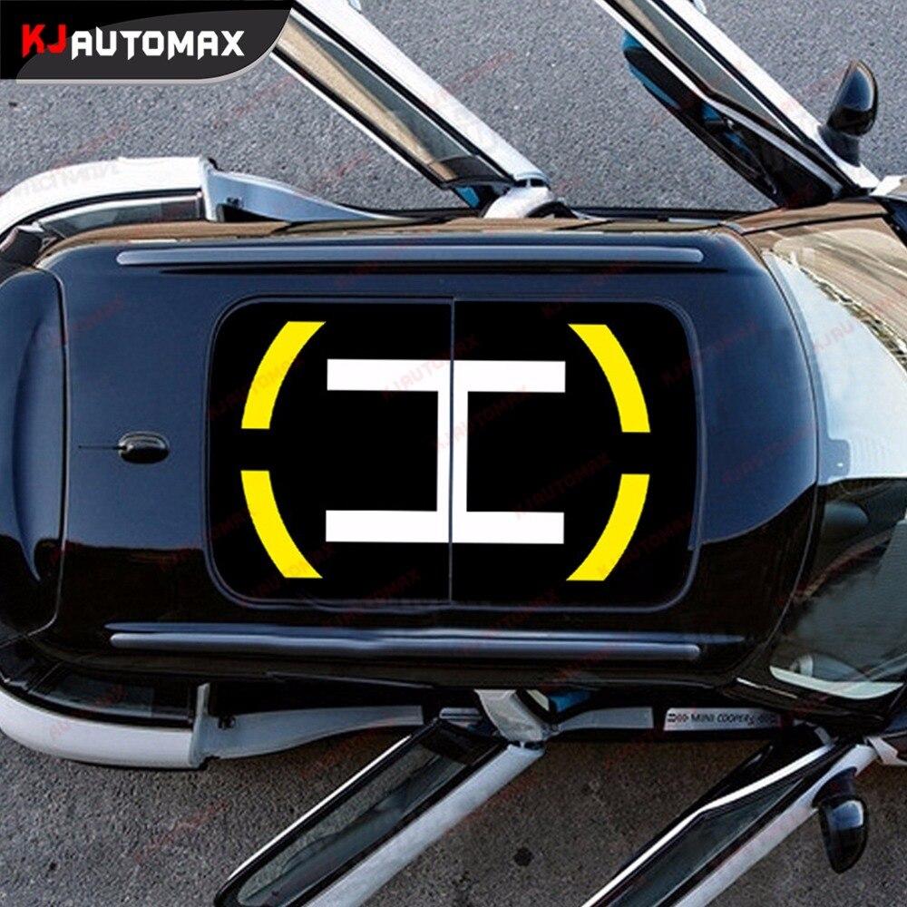 Gloosy Black Vinyl Vehicle Car Wrap Sticker Decal Car SunROOF False Sunroof