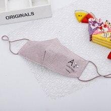 3 предмета случайный цвет хлопок Трехмерная маска корейская мода вышивка Пыленепроницаемая противотуманная теплая Корейская стильная маска