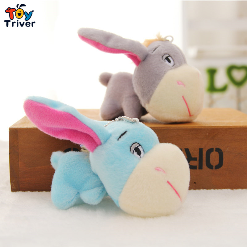 Wholesale cute donkey doll mobile phone key chain pendant plush toy wedding birthday party cheap gift present free shipping super cute plush toy dog doll as a christmas gift for children s home decoration 20