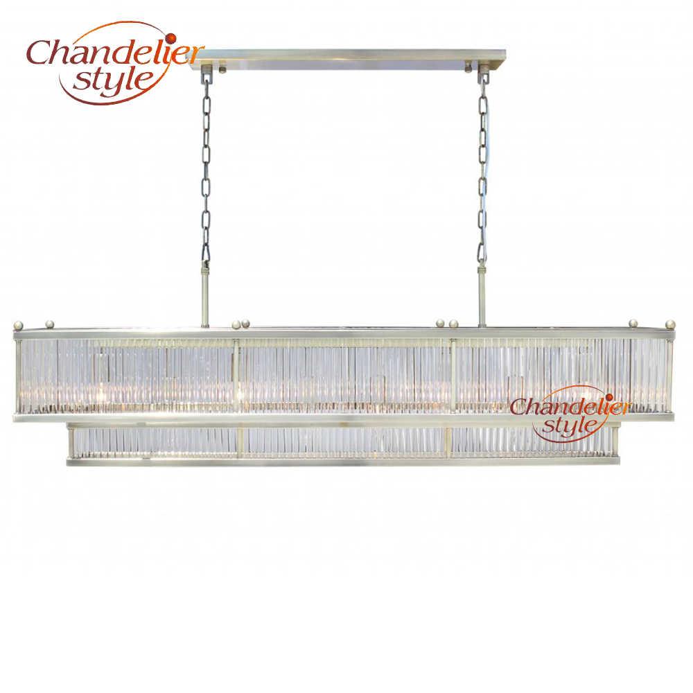 Современный стеклянный термометр люстра освещение Дизайн интерьера светодиодный прямоугольные люстры линейное стекло подвесной светильник