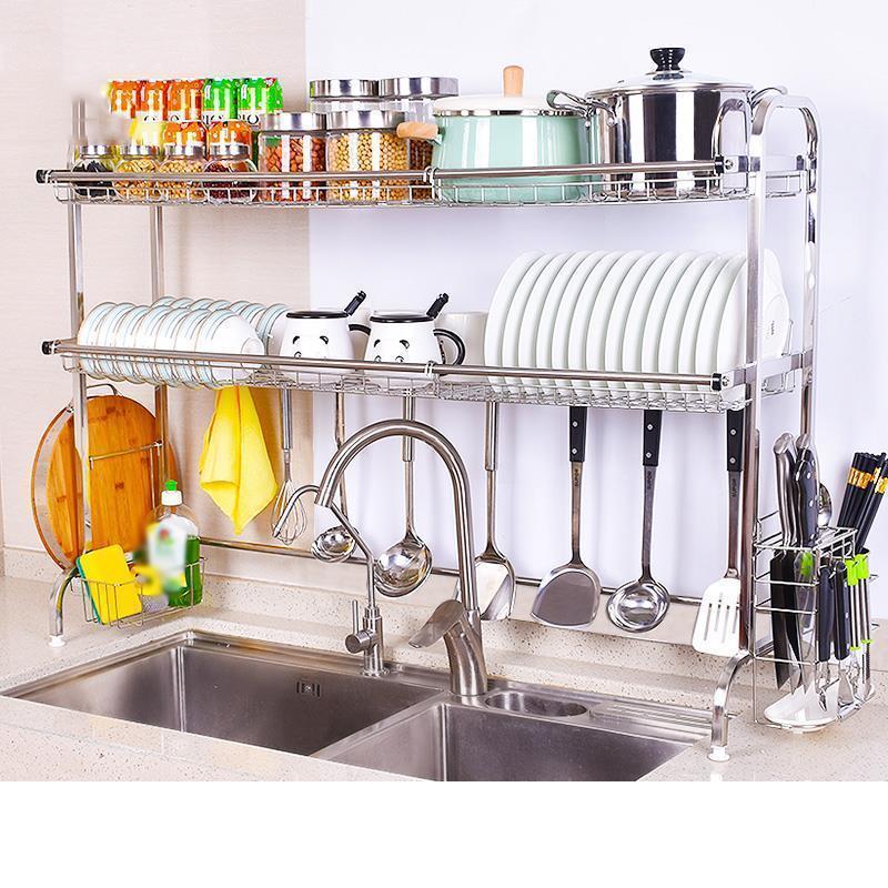 Vaisselle Escurridor De Platos Cosina Accessori Etagere Lavello In Acciaio Inox Cozinha Cremagliera Mutfak Cocina Cucina Organizzatore