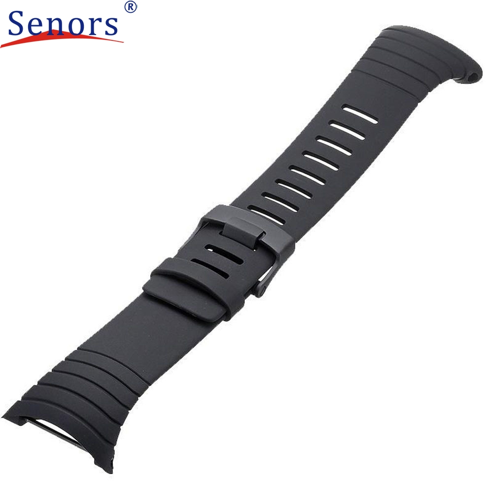 NEW Luxury Rubber Watch Replacement Band Strap For SUUNTO CORE SS014993000 High Quality #0429 quality pu rubber strap watch accessories for for suunto