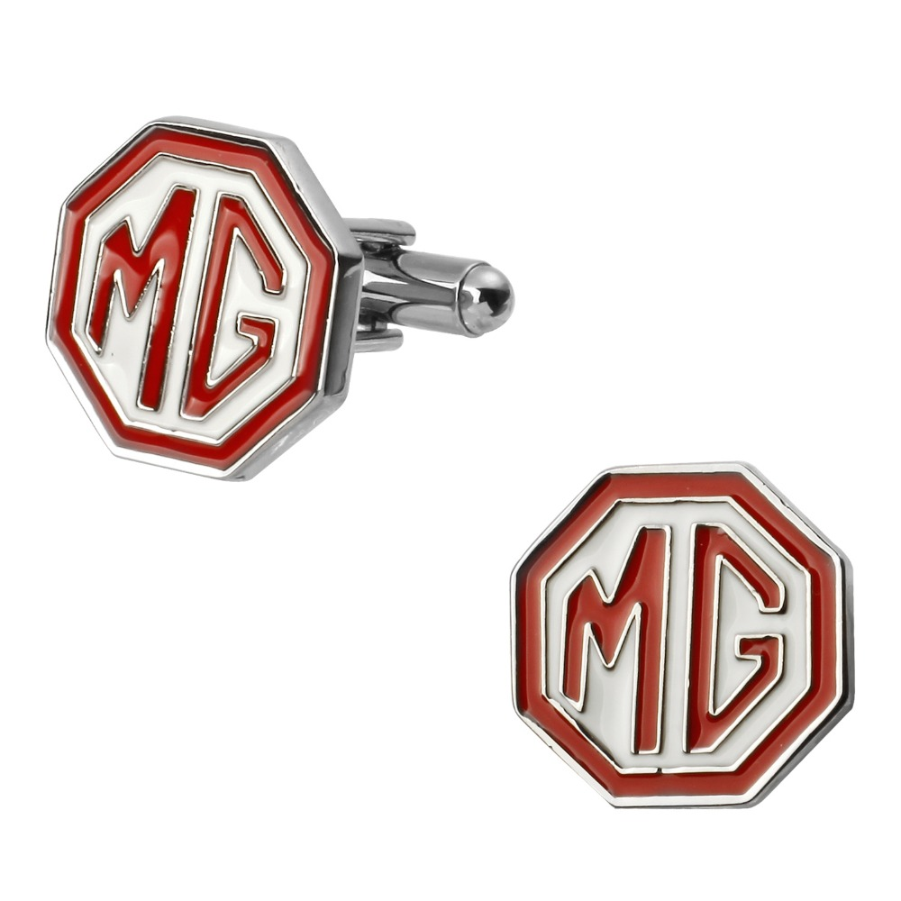 Fashion mens jewelry French cuffs cufflinks letter silver car flag cufflinks / 5 on packing/free shipping