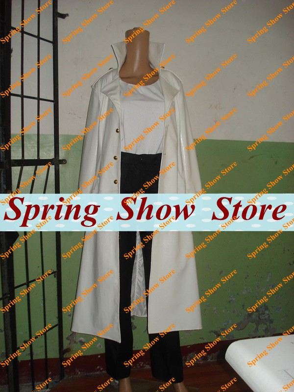Psycho-Pass Makishima Shogo Anime Cosplay Costume White Leather Wind Coat Customized Uniform