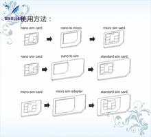 500 zestawów partia Noosy 4 w 1 Nano SIM karta do Micro SIM Nano Micro do Mini Sim Adapter do Iphone Samsung karta Sim Adapter tanie tanio Dwóch kart sim akcesoria garnitur SIM Card Adapter wholebuy