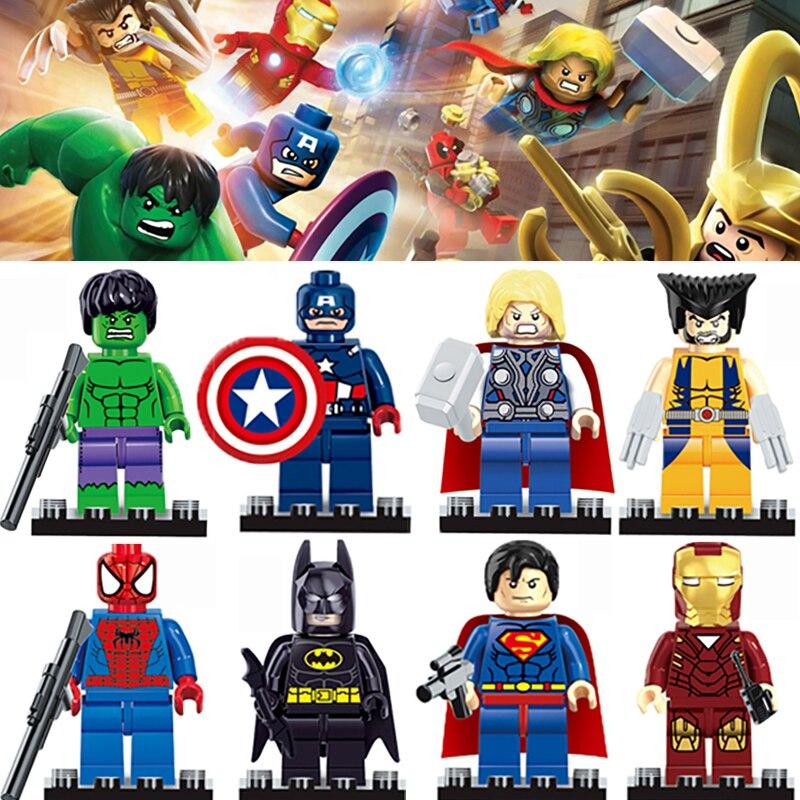 1 шт./лот 4.5 см Marvel Super Hero Мстители головоломка DIY аксессуары Игрушка строительного кирпича модель игрушки для детей головоломки Забавные под... ...