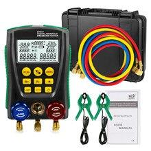 DY517A холодильное цифровой манометр метр хладагента инспекции вентиляции и кондиционирования вакуумный Давление Температура тестер 2-ходовой клапан