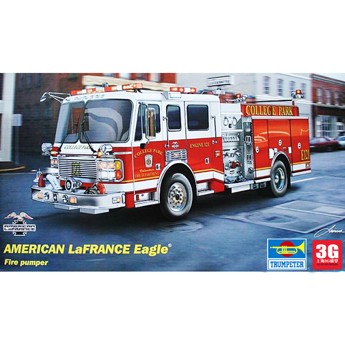 Trumpeter 02506 1/25 US military model 2002 fire truck type