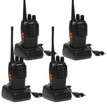4 PCS Baofeng BF-888S Walkie Talkie 5W Handheld Pofung bf 888s UHF 5W 400-470MHz 16CH Two Way Portable Scan Monitor Ham CB Radio wecan kc m3 ultra thin ultra clear 400 470mhz 20 channel walkie talkie silver blue 2 pcs