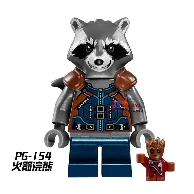 50pcs starwars Guardians of the Galaxy Rocket Raccoon building blocks bricks friend for boy Gift children toys brinquedos menina