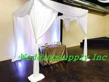3x3x3m 10feet x10feet Luxury White Wedding Canopy Curtain & Buy wedding canopy frame and get free shipping on AliExpress.com