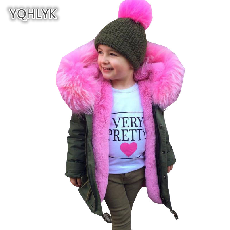 Children winter baby faux fur jacket hooded warm girl imitation fox fur coat boy thick cotton long baby Parkas Outerwear & Coats