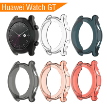 42MM Soft TPU Case For Huawei Watch GT Cover Screen Protector Smart Accessories Sport Band