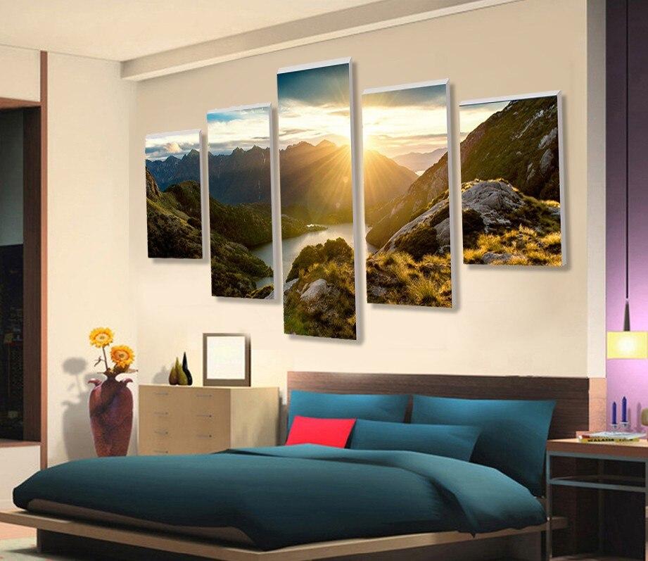 Mod de peisaj HD 5 bucăți de pânză artă de decorare a casei - Decoratiune interioara - Fotografie 2