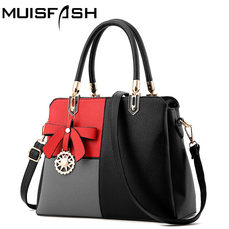New Design Luxury Leather Women Handbags Fashion Patchwork Shoulder Bags Women Messenger Bags Ladies Bolsos Totes Bags LS1164