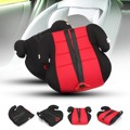New Children Car Booster Seat Safety Chair Heightening Pad With Safety Belt For Baby Kids Red Black