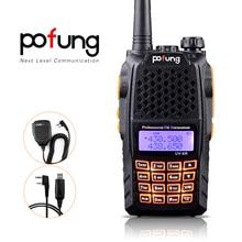 Pofung UV-6R Two-way Ham Radio VHF/UHF 136-174MHz /400-519MHz Dual Display/Standby FM Transceiver Walkie Talkie +Program Cable