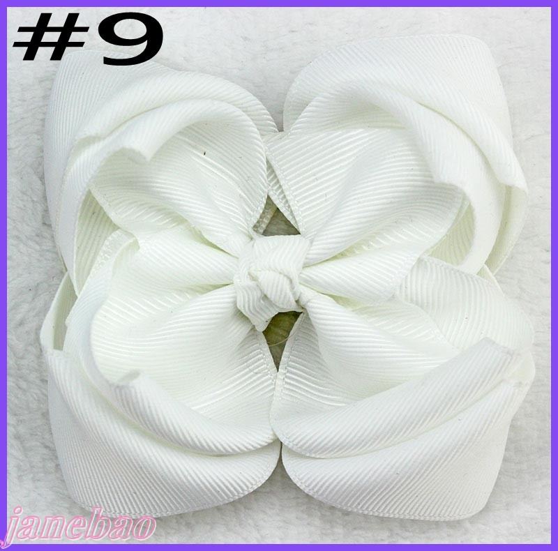 free shipping 120pcs 4 double layered boutique hair bows stacked ABC hair bows girl hair accessories