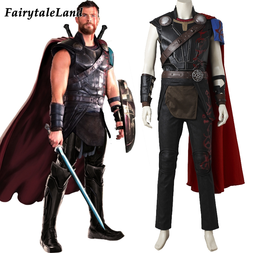 Thor Ragnarok Odinson Cosplay Costume adult Men Halloween ...