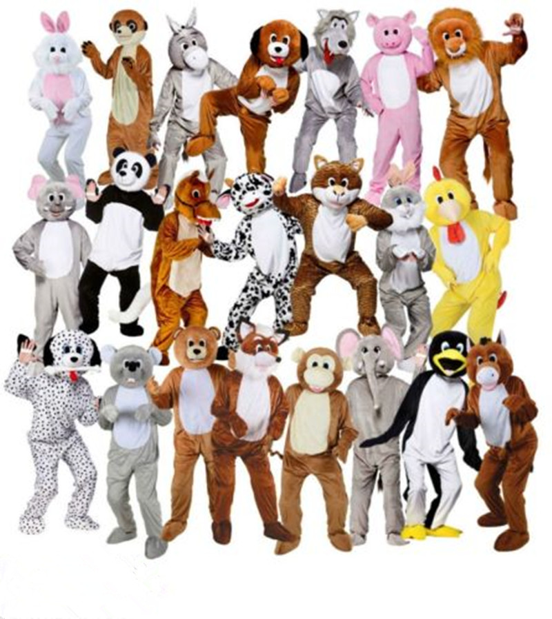 Adulte grande tête Deluxe Animal mascotte déguisement lapin cheval peluche mascotte Costume Jumbo peluche pour Halloween pourim party