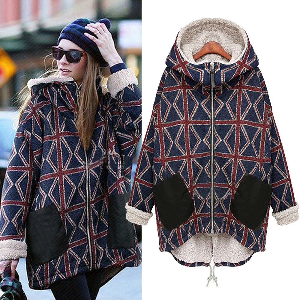 Plus Size Winter Jacket Women Woolen