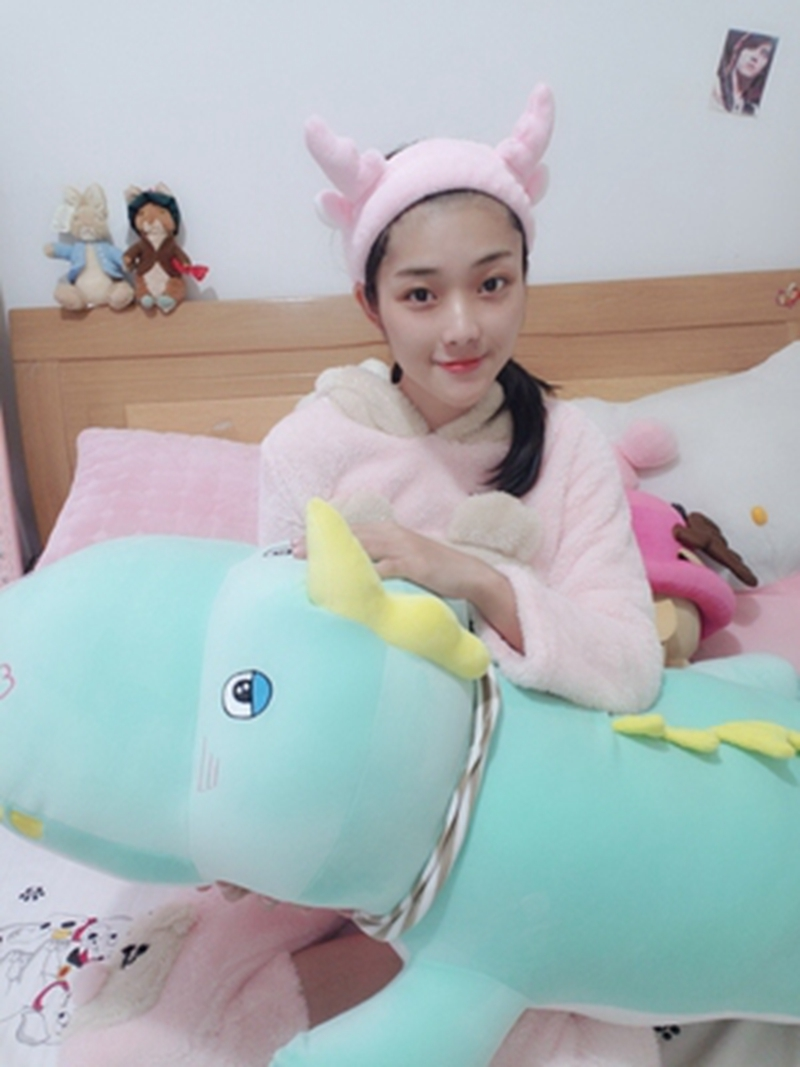 Dorimytrader kawaii crocodile plush toy doll giant animal alligator sleeping cushion bed pillow girl cute birthday gift 120cm 150cm DY50545 (19)