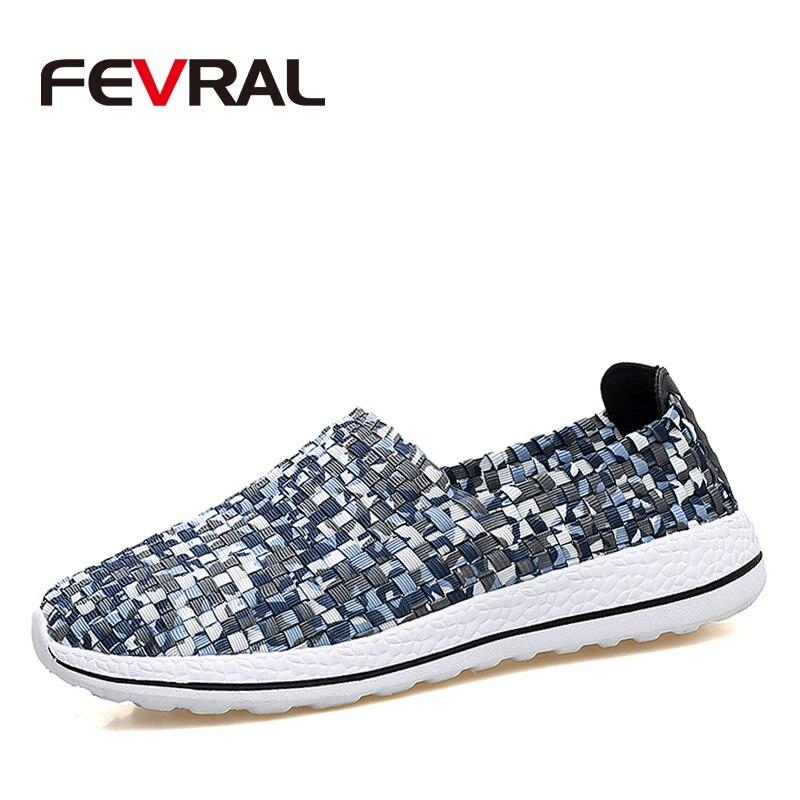 44 De Femme Fevral Offre dark 2019 gray Baskets Chaussures Mode Plat Antidérapantes Plus Casual Slip on tissé 38 La Femmes Blue Spéciale Black Taille Main Rw4xCqfw