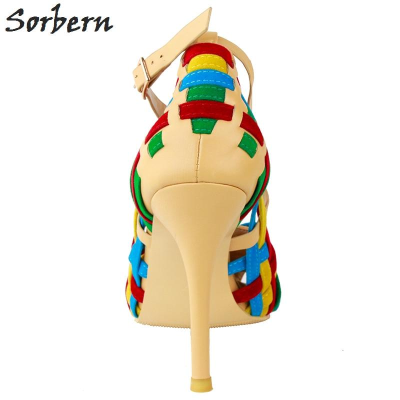 Parti 2018 Boucle Femmes 34 Chine Grand Chaussures Sangle 47 La Coloré Taille Pompes Sorbern Plus Automne Colorful OxSq06
