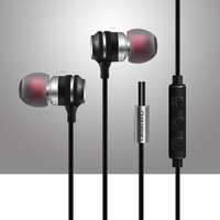 TYAYA Professional In Ear Earphones Metal Heavy Bass Sound Earbuds For Mobile Phones Computers MP3 MP4