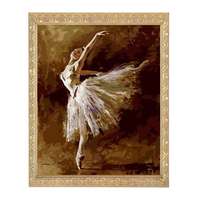 Golden Panno,Needlework,DIY DMC Cross stitch,Sets For Embroidery kit 14ct unprinted cotton thread Ballerina DanceCross Stitching