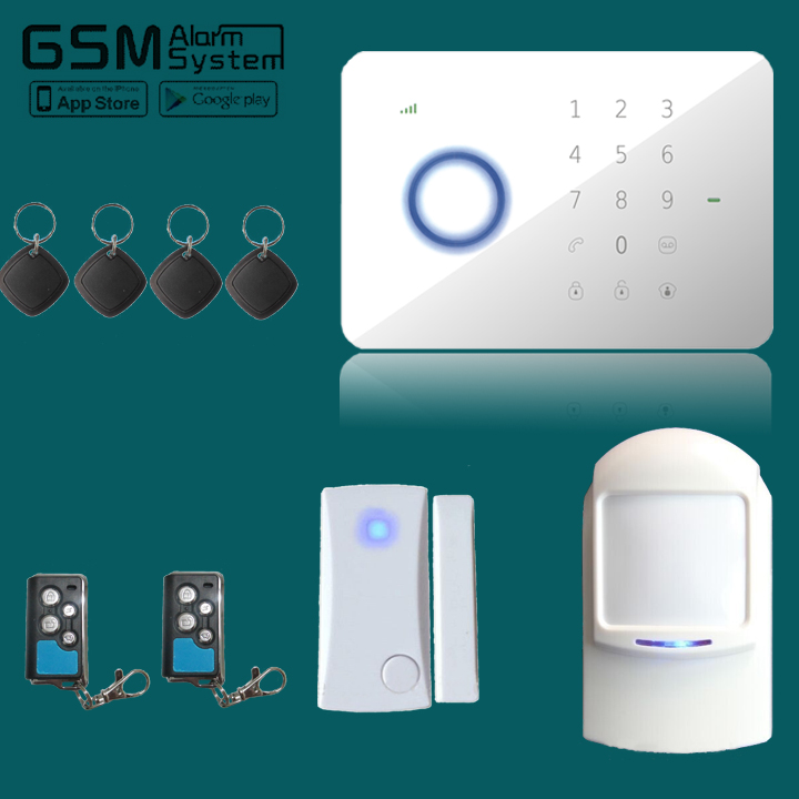 APP&Andriod control Touch Keypad G5S GSM SMS Wireless Home Security Burglar Alarm System with RFID Access Control 433Mhz yl 007m2g touch keypad gsm sms wireless home security burglar alarm system rfid access control 850 900 1800 1900mhz 433mhz