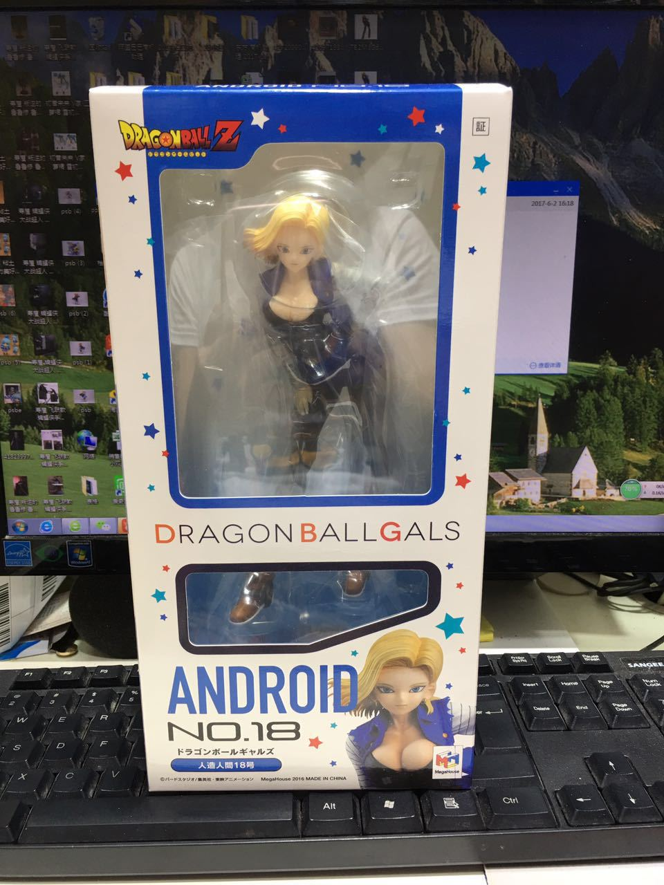New Dragon Ball Girls Z Android No. 18 Sexy Cute Girl Figure Anime Collectible Mascot Kid Toys Chinese version