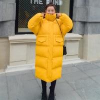 High Quality New Womens Winter Jackets Trendy Korean Elegant Females Parkas Warm Female Solid Thickening Warm