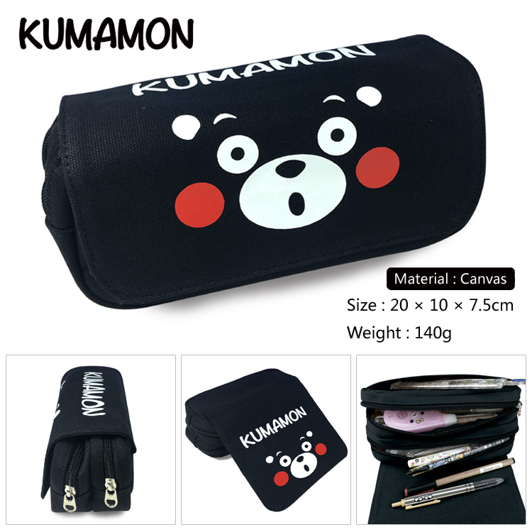 OHCOMICS Hot For Kumamon Fans Cute Black Bear Pencil Bag Pencil Case Box For Study School Costume Accessory Gift