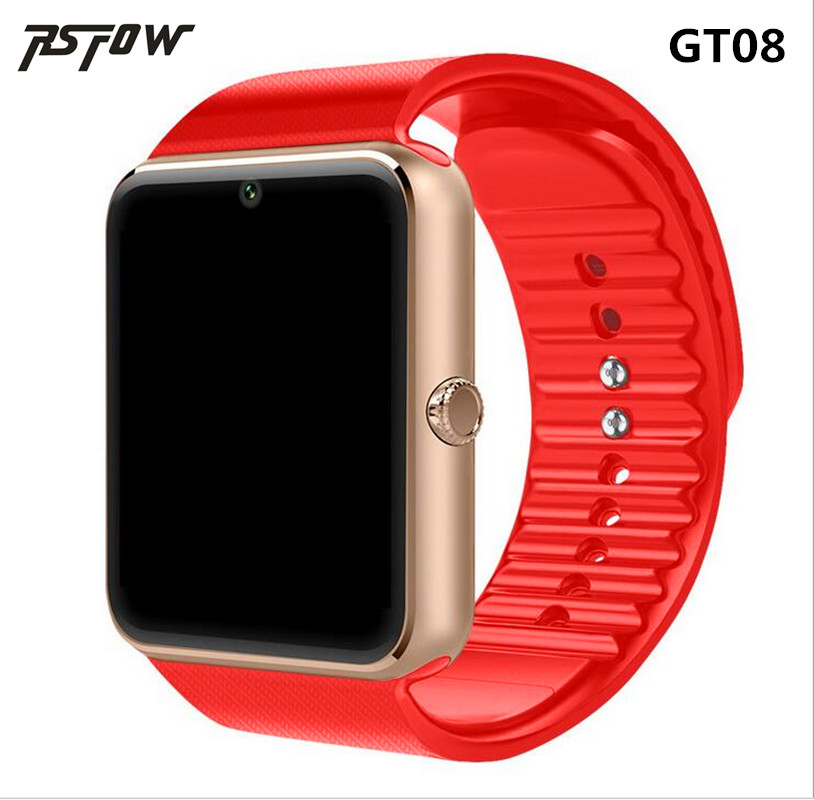 RsFow New Smart Watch GT08 With Camera Bluetooth WristWatch SIM Card Smartwatch For Ios Android Phones Support Multi languages