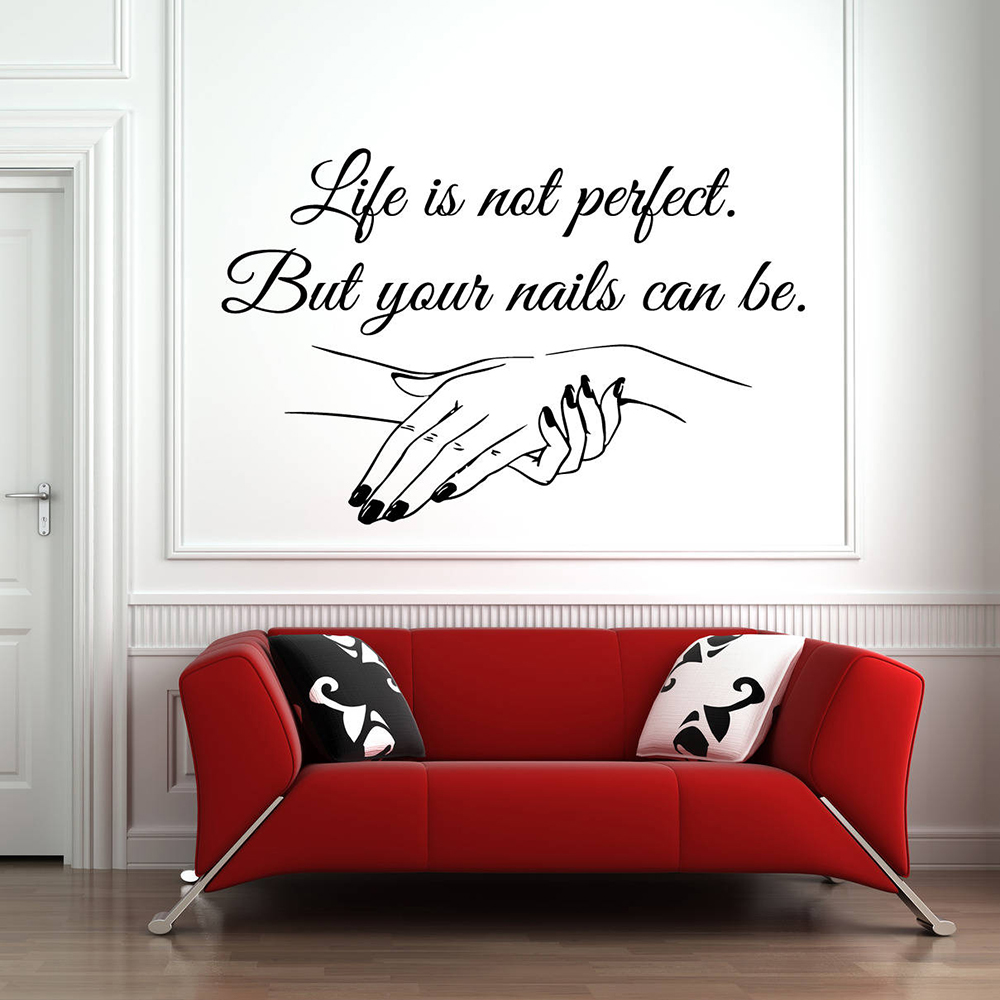 Nail Art Quote: Nail Salon Quote Wall Decal Your Nails Can Be Perfect