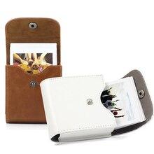 مربع كاميرا صور ورقة حقيبة التخزين حافظة جلدية لاستبدال Instax SQ20/SQ10/SQ6/SP 3
