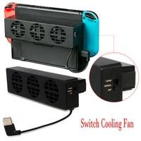 Lüfter für Nintendo Schalter NS Original Stand Spielkonsole Dock Kühler mit 3-Fan USB Lüfter für nintend NS NX