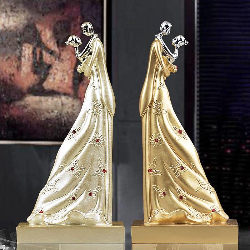 29cm Height Passionate Lovers Hug Couple Statue Figurine