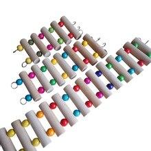 1 шт. попугай хомяк игрушки Птица деревянная лестница скалолазание канатная веревка попугай укусы клетка попугай домашние животные игрушки Juguetes brinquedo