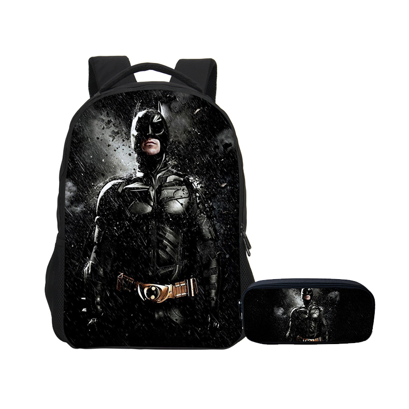 VEEVANV Backpacks For Boys Girls 2 Pcs Set With Pencil Case Fashion Cool Super Hero Batman Printing School Bag Bookbags DaypacksVEEVANV Backpacks For Boys Girls 2 Pcs Set With Pencil Case Fashion Cool Super Hero Batman Printing School Bag Bookbags Daypacks