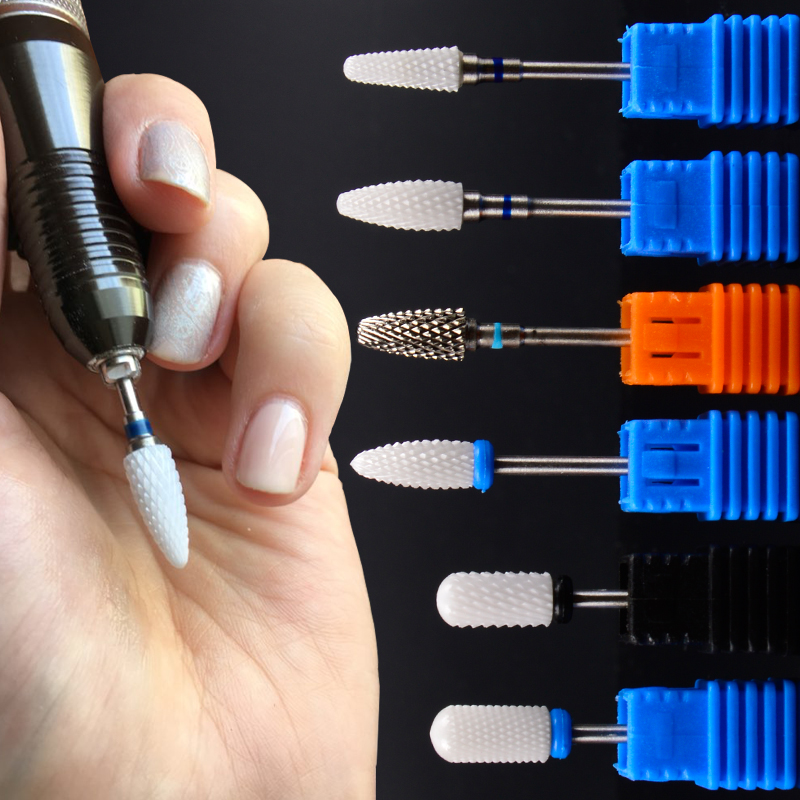 High Quality 1PC M XC Size Ceramic Flame Nail Drill Bits For Electric Nail Manicure Pedicure Cutter Machine Tools Accessories