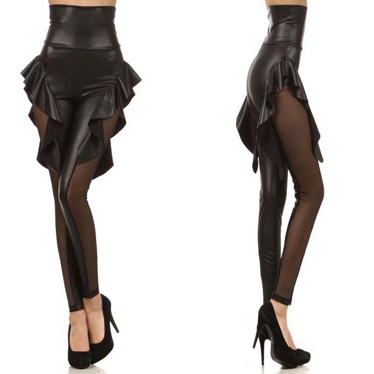 Νέο Πανέμορφο ψηλό μέτωπο με γαντζωμένες γκέτες Μπροστινό πλέγμα Sexy Jeggings tregging Δωρεάν αποστολή