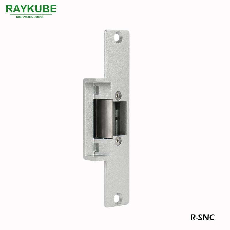 RAYKUBE Electric Strike Door Lock For Access Control System Fail Safe R-SNC surface mounting type dc12v fail safe mode electric bolt lock for access control or intercom system