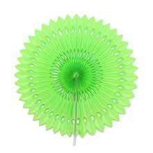 "6pcs 12""(30cm)Apple Green Paper Folding Fan Paper Crafts For Wedding Decoration Store Decoration Exhibition Decoration DIY"